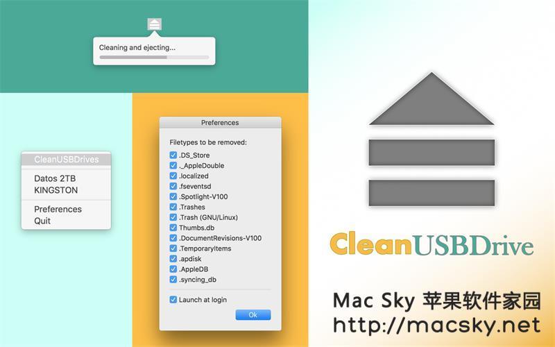 弹出外接设备并清除DS_Store文件工具 CleanUSBDrive 1.3