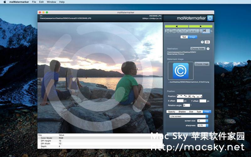 图像快速批量添加水印工具 maWatermarker 1.2.1 Mac OS X