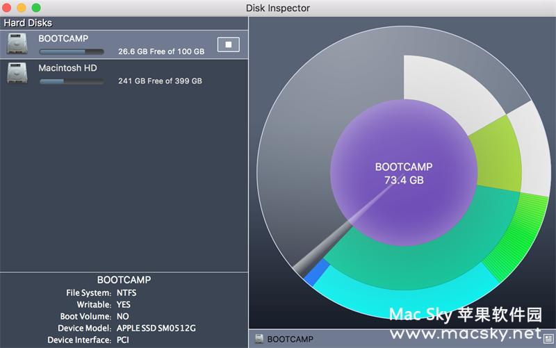 苹果系统磁盘扫描清理工具 Disk Inspector 2.1.1 Mac OS X