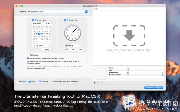 File-Multi-Tool-01 File Multi Tool 6.08 for Mac 批量修改图片文件信息工具