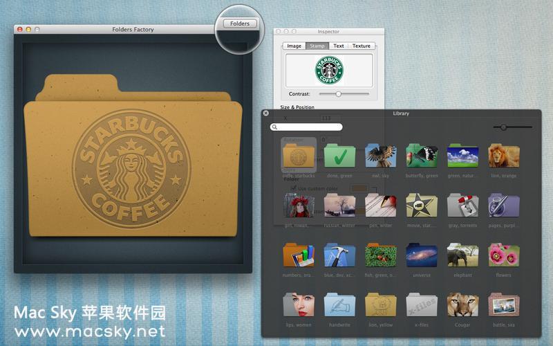 苹果系统文件夹图标修改工具 Folders Factory 1.8 多国语言