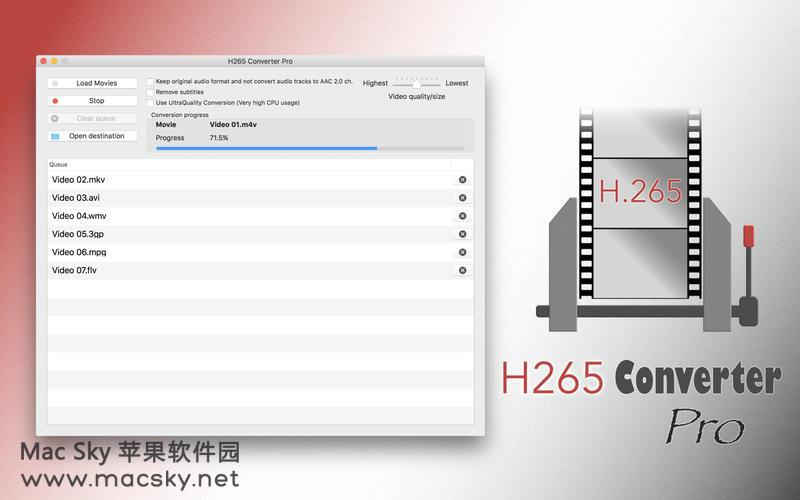H265-Converter-Pro-01 苹果MKV视频格式转换器 H265 Converter Pro 1.7 MacOSX