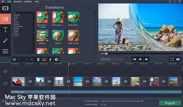 苹果图片幻灯片制作软件 Movavi Slideshow Maker 2.1 中文版