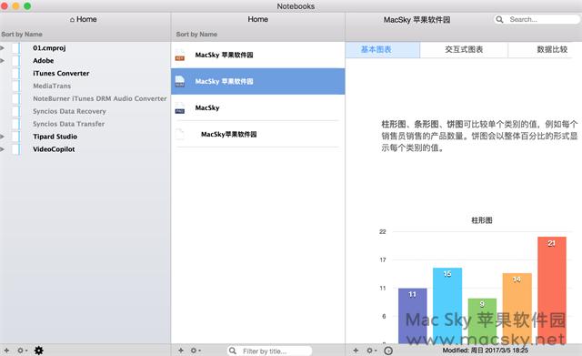 苹果文档编写日程备忘工具 Notebooks for Mac 1.4.1