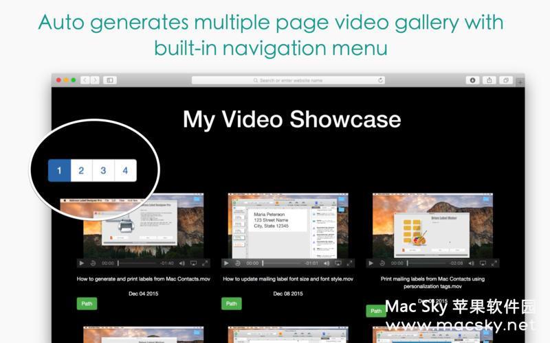 视频相册制作管理软件 Responsive Video Grid 2.40 多国语言