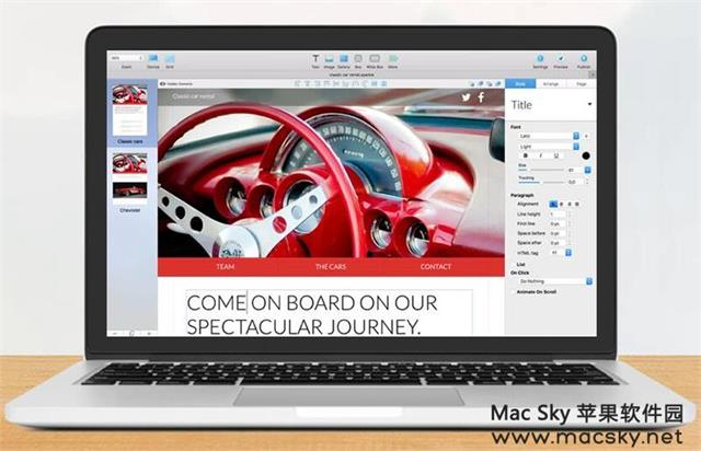 苹果网页设计开发工具 Sparkle Pro 2.1.4 中文版 Mac OS X