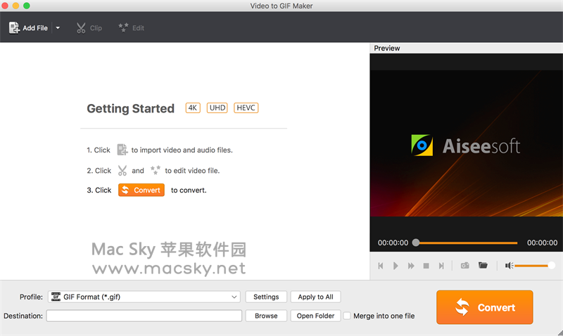 Video-to-GIF-Maker 苹果视频转GIF动画工具 Aiseesoft Video to GIF Maker 1.0.29