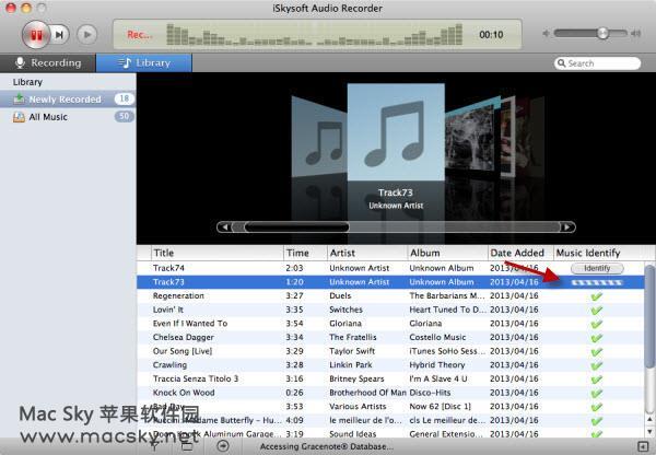 苹果系统超强音频录制软件 iSkysoft Audio Recorder 2.4