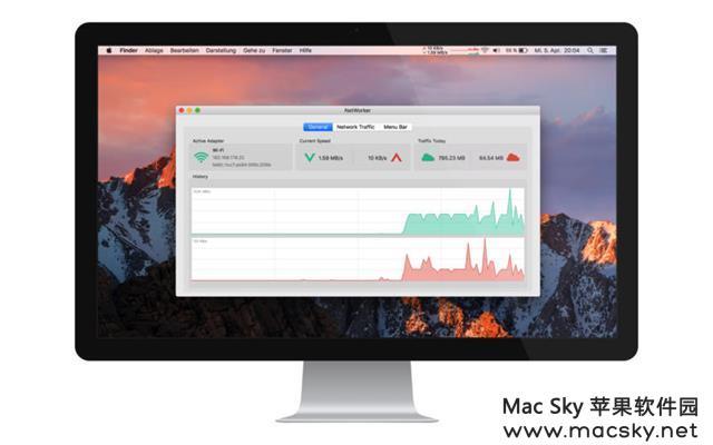NetWorker NetWorker 4.6.4 for Mac 网络信息速度监测工具