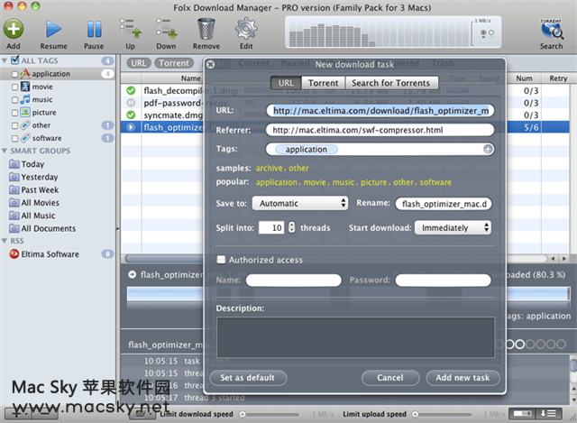 Xilisoft-iPhone-Magic-Platinum 苹果专业下载工具 Folx Pro Download Manager 5.2.1 中文版