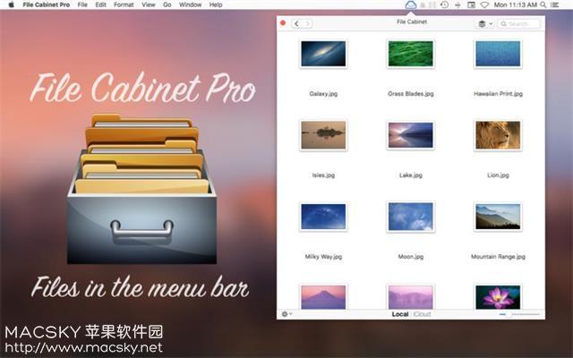 File-Cabinet-Pro-01 File Cabinet Pro 5.9 for Mac 菜单栏文件管理工具