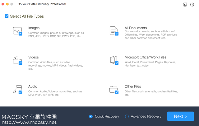 Do-Your-Data-Recovery-Professional Do Your Data Recovery 6.2 for Mac 数据恢复软件专业版