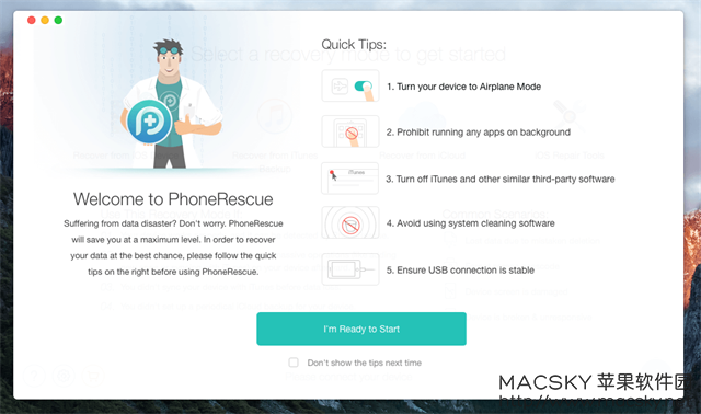 iMobile-PhoneRescue-01 iMobile PhoneRescue 3.4.4 for Mac iOS设备数据恢复软件