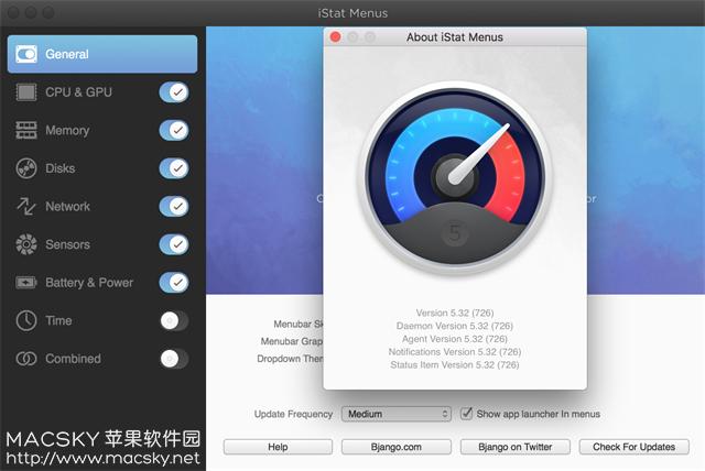 iStat-Menus-5.32-Build-726 Mac系统硬件信息监测工具 iStat Menus 5.32 Build 726 中文版