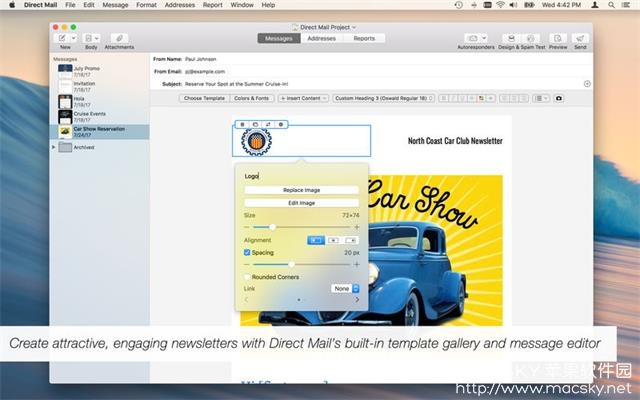 Direct-Mail-01 Direct Mail 5.2.2 for Mac 电子邮件传送客户端工具