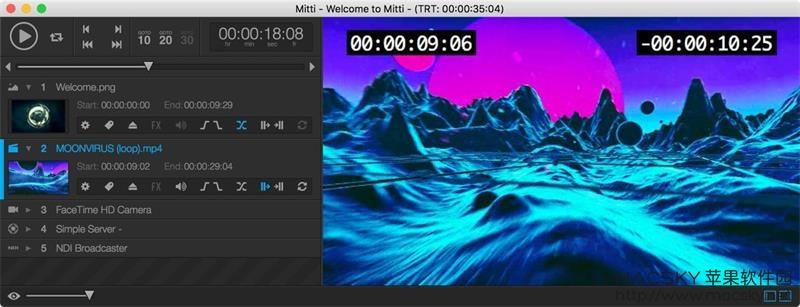 Mitti-01 Mitti 1.2.6 for Mac 专业视频编辑回放软件