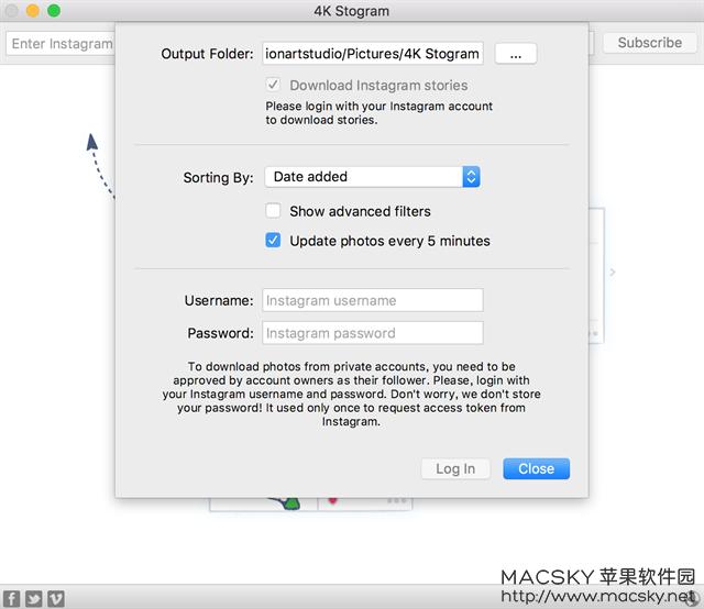 4k-stogram-02 4K Stogram v2.6.8 for Mac Instagram照片视频备份下载工具