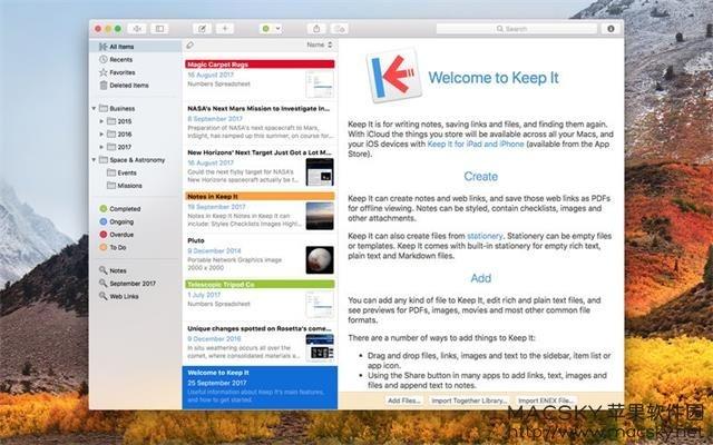 Keep-It-01 Keep It 1.2.4 for Mac 写笔记保存链接存储文档软件