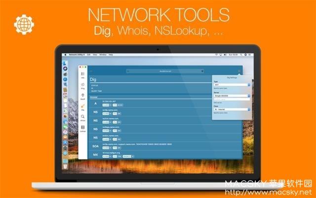 Network-Utility-X-02 Network Utility X v6.1.3 for Mac 网络信息状况监测工具