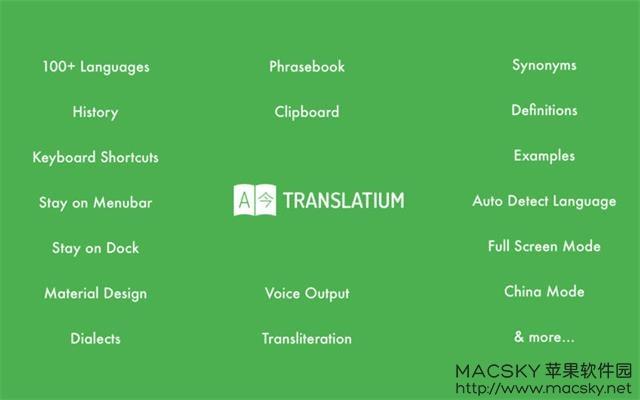 Translatium-02 Translatium 7.10.0 for Mac 强大的翻译软件