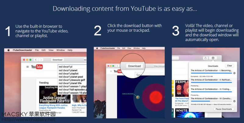 iTubeDownloader-02 iTubeDownloader 6.3.3 for Mac YouTube视频下载工具