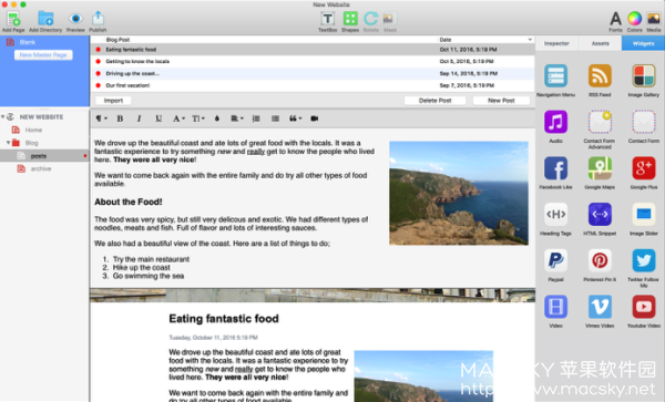 EverWeb-01 EverWeb 2.7 for Mac 中文版 优秀网页设计软件