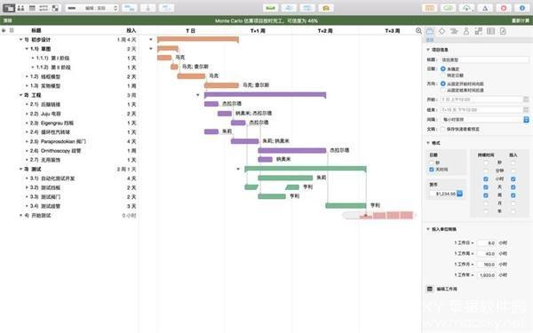 OmniPlan-02 OmniPlan Pro 3.9.2 for Mac 中文版 项目管理规划软件