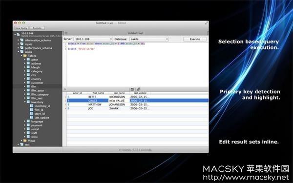SQLPro-for-MySQL-02 SQLPro for MySQL 1.0.65 for Mac 数据库客户端软件