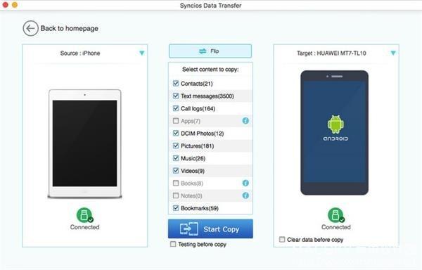 Syncios-Data-Transfer-02 Syncios Data Transfer 1.2.7 for Mac iOS设备数据传输软件