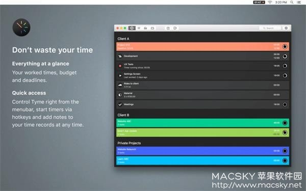 Tyme-01 Tyme 2 v2018.4 for Mac 个人时间管理规划工具