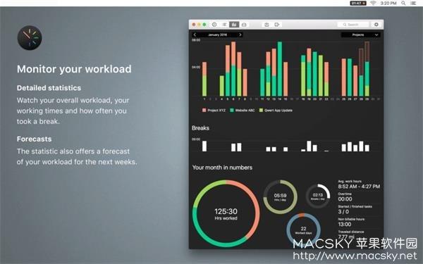 Tyme-02 Tyme 2 v2018.4 for Mac 个人时间管理规划工具