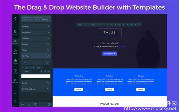 Website-Builder-01 Website Builder 1.4 for Mac 网站网页设计制作软件