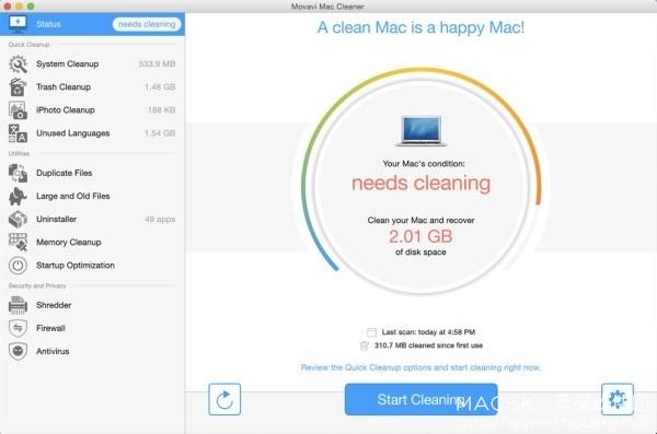 Movavi-Mac-Cleaner-01 Movavi Mac Cleaner 2 v2.4.2 系统清理重复查找卸载粉碎工具