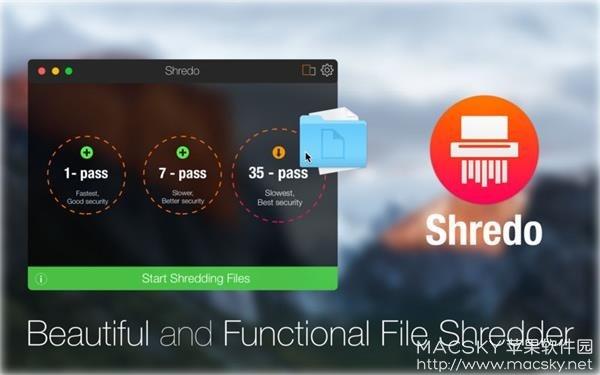 Shredo-01 Shredo 1.2.4 for Mac 文件粉碎彻底删除工具