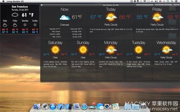 Weather-HD-03 Living Weather HD 3.7.2 for Mac 天气预报动态壁纸工具