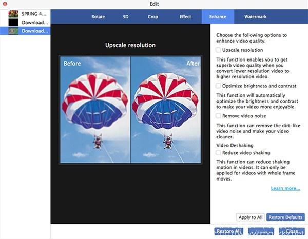 Mac-Video-Enhancement-02 AnyMP4 Mac Video Enhancement 8.1.16 视频质量增强软件
