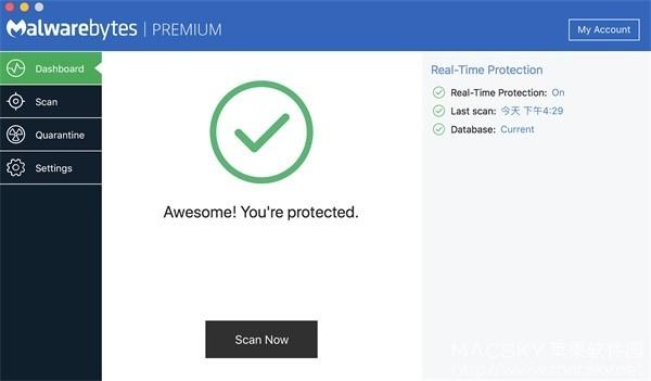 Malwarebytes-03 Malwarebytes Premium 3.2.35 病毒查杀恶意软件清除工具