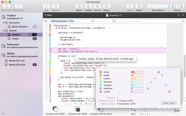 Cornerstone-03 Cornerstone 3.0.3 for Mac SVN客户端管理工具